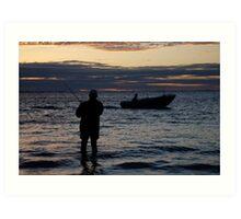 seascapes #269, just fishin' Art Print