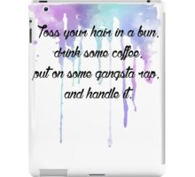 Coffee & Gangsta Rap iPad Case/Skin
