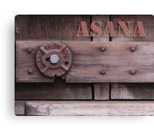 Rustic Asana Canvas Print