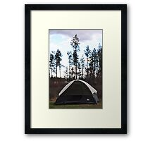 Tent Camping Framed Print