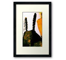 scorched peak....charred cactus  Framed Print