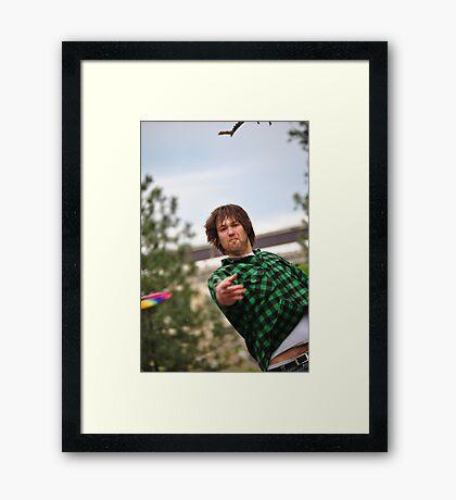 Disc Golfers Framed Print