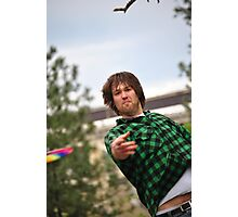 Disc Golfers Photographic Print