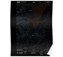 USGS Topo Map Oregon Waldo Lake 20110810 TM Inverted Poster