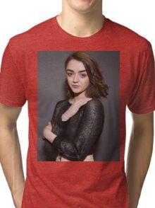 Maisie Williams Grey Tri-blend T-Shirt