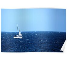 Sailing on the Sea Poster