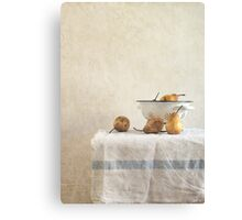colender and pears Canvas Print