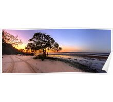 Inskip Point Calm Sunrise Poster