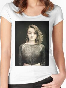 Maisie Williams Black Women's Fitted Scoop T-Shirt