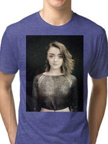 Maisie Williams Black Tri-blend T-Shirt