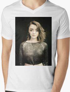 Maisie Williams Black Mens V-Neck T-Shirt