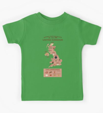 Regional Fried Breakfasts of the United Kingdom Kids Clothes