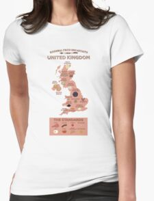Regional Fried Breakfasts of the United Kingdom Womens Fitted T-Shirt