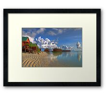 Meerufenfushi island Morning View Framed Print