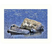 Lounging in the Swamp Art Print