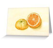 orange stilllife Greeting Card