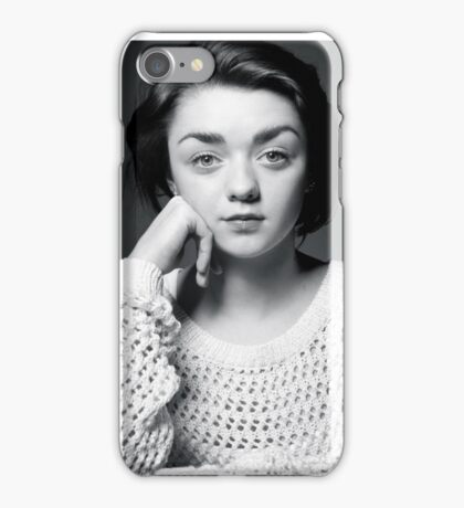 Maisie Williams Black & White iPhone Case/Skin