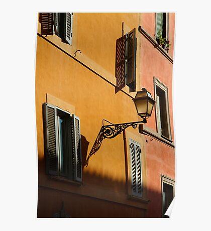 Street Light - Rome Poster