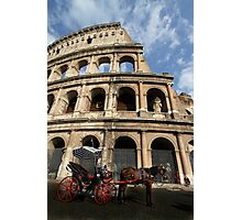 Horse and Carriage - Rome Photographic Print