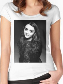Maisie Williams Actor Women's Fitted Scoop T-Shirt