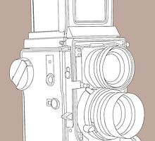 Twin lens reflex camera by Richard Heyes