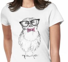 Nerdy Owlet Womens Fitted T-Shirt