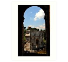 Arch of Constantine - as seen from the Colosseum - Rome Art Print