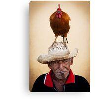 The chicken man Canvas Print