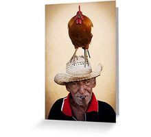 The chicken man Greeting Card