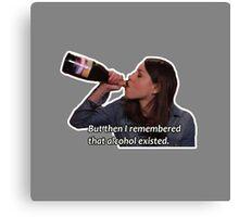 April Ludgate - Alcohol Exists Canvas Print