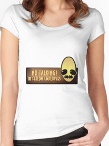 No talking! Women's Fitted Scoop T-Shirt