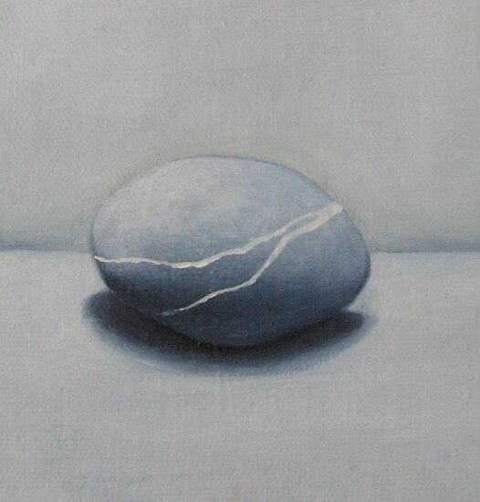 Grey pebble III by April Jarocka