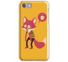 Good Morning Fox iPhone Case/Skin