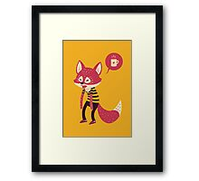 Good Morning Fox Framed Print