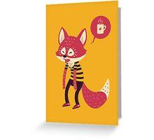 Good Morning Fox Greeting Card