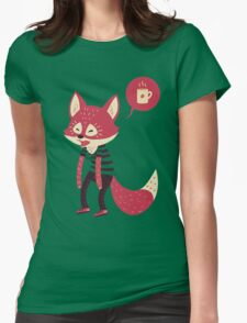 Good Morning Fox Womens Fitted T-Shirt
