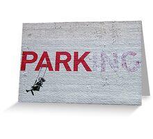 Parking Banksy Greeting Card