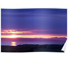 Scottish Sunset Poster