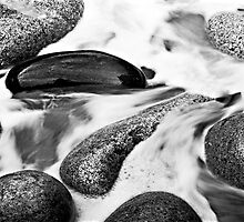 Rock in Motion, Porth Nanven, Cornwall by Simon Lupton