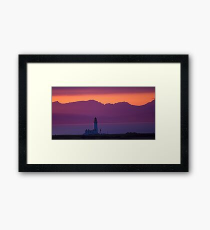 Tranquil Turnberry Lighthouse Framed Print