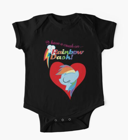 I have a crush on... Rainbow Dash - with text Kids Clothes