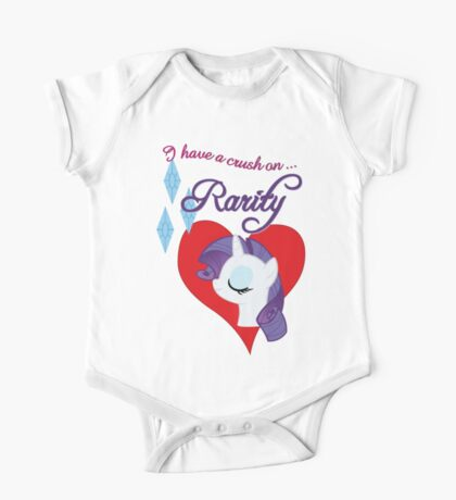 I have a crush on... Rarity - with text Kids Clothes