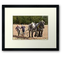 Ploughing the old way  Framed Print