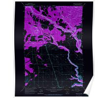 USGS Topo Map Oregon Hehe Butte 280175 1962 24000 Inverted Poster