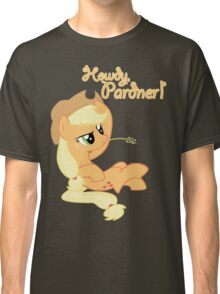 Howdy, Pardner! with Text Classic T-Shirt