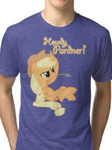 Howdy, Pardner! with Text Tri-blend T-Shirt