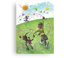 Katie and the Kite Canvas Print