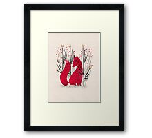 Fox in Scrub Framed Print