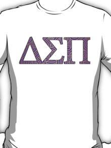 Delta Sigma Pi Purple Pattern T-Shirt