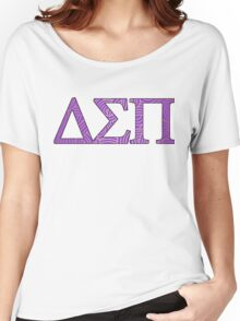 Delta Sigma Pi Purple Pattern Women's Relaxed Fit T-Shirt